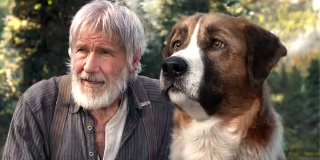 Harrison Ford and CGI Buck in The Call of the Wild 2020 movie
