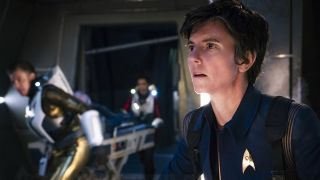 """Brother,"" Episode 201, Pictured: Tig Notaro as Chief Engineer Reno of the CBS All Access series ""Star Trek: Discovery."""