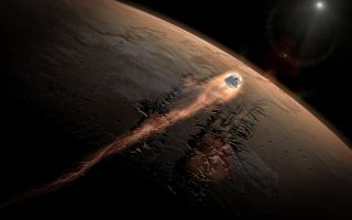 SpaceX's Dragon Enters Mars' Atmosphere