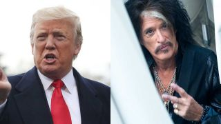 Composite shot of Donald Trump and Joe Perry