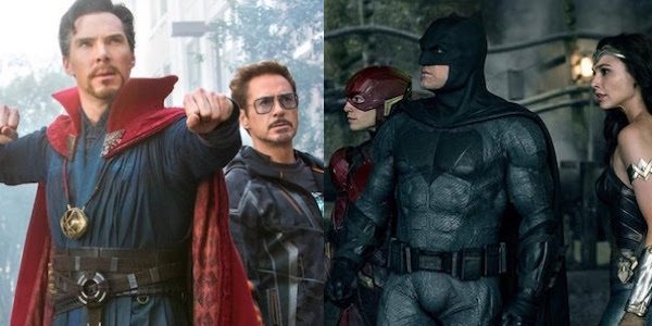 members of The Avengers and Justice League