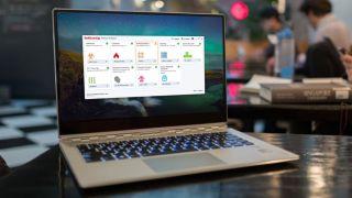 Antivirus software on a laptop