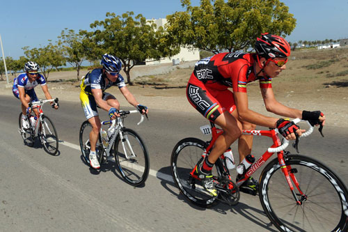 Alessandro Ballan escape, Tour of Oman 2010, stage five