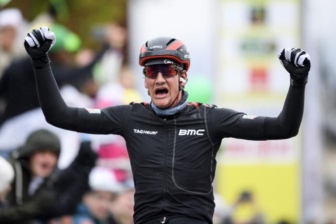 Stefan Küng (BMC Racing) wins stage 2 at Tour de Romandie ahead of Astana's Andrey Grivko