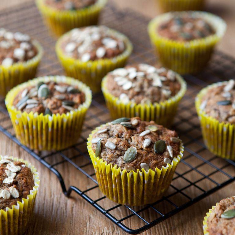 Banana oat muffins photo