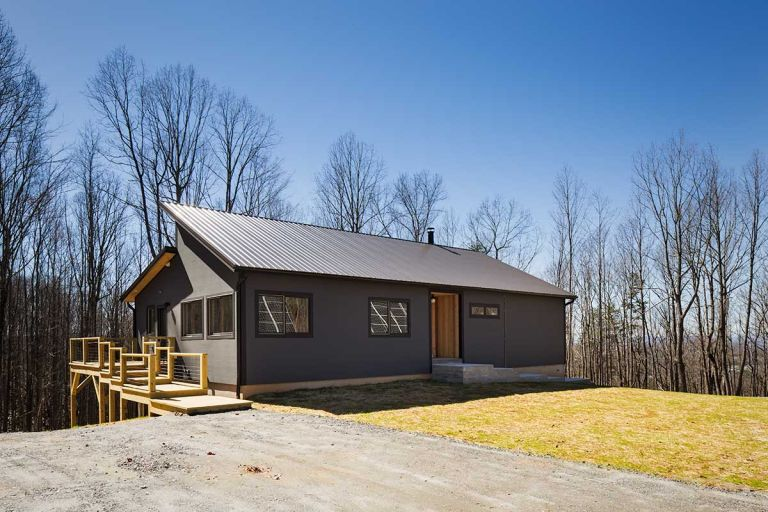 exterior of a prefab modular home by Deltec Homes