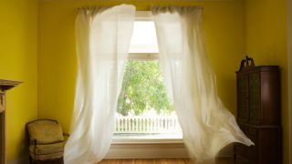 How to measure the air quality in your home: image of fresh air through windows
