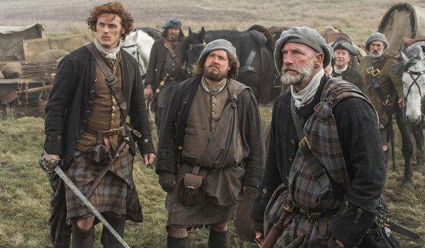 outlander scots kilts jamie starz