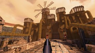 The imposing main fortress that you need to unlock in Dimension of the Blacksmiths