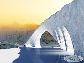 A 3D rendering of the Bridge in Ice in Finland.