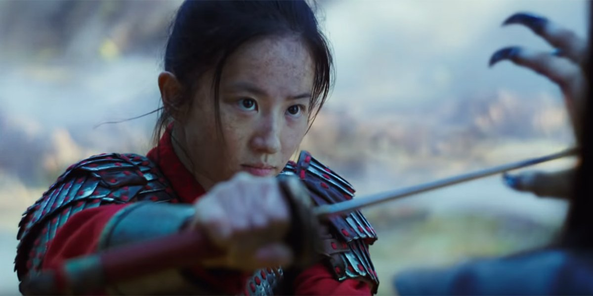 Mulan battling the witch