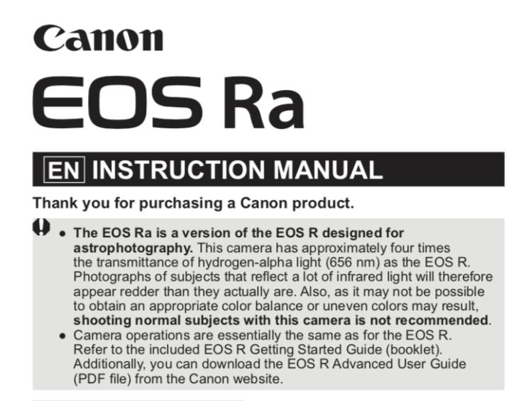 Canon EOS Ra leak: Canon accidentally confirms its mirrorless astro camera | Digital Camera World