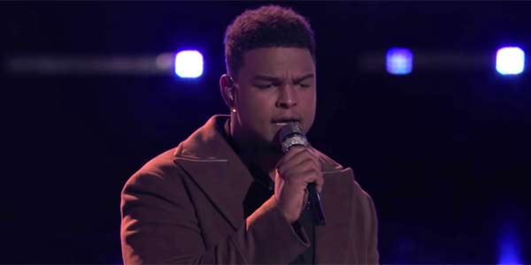 DeAndre Nico singing All Of Me on the voice