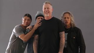 A still from the first Metallica: A Different View video