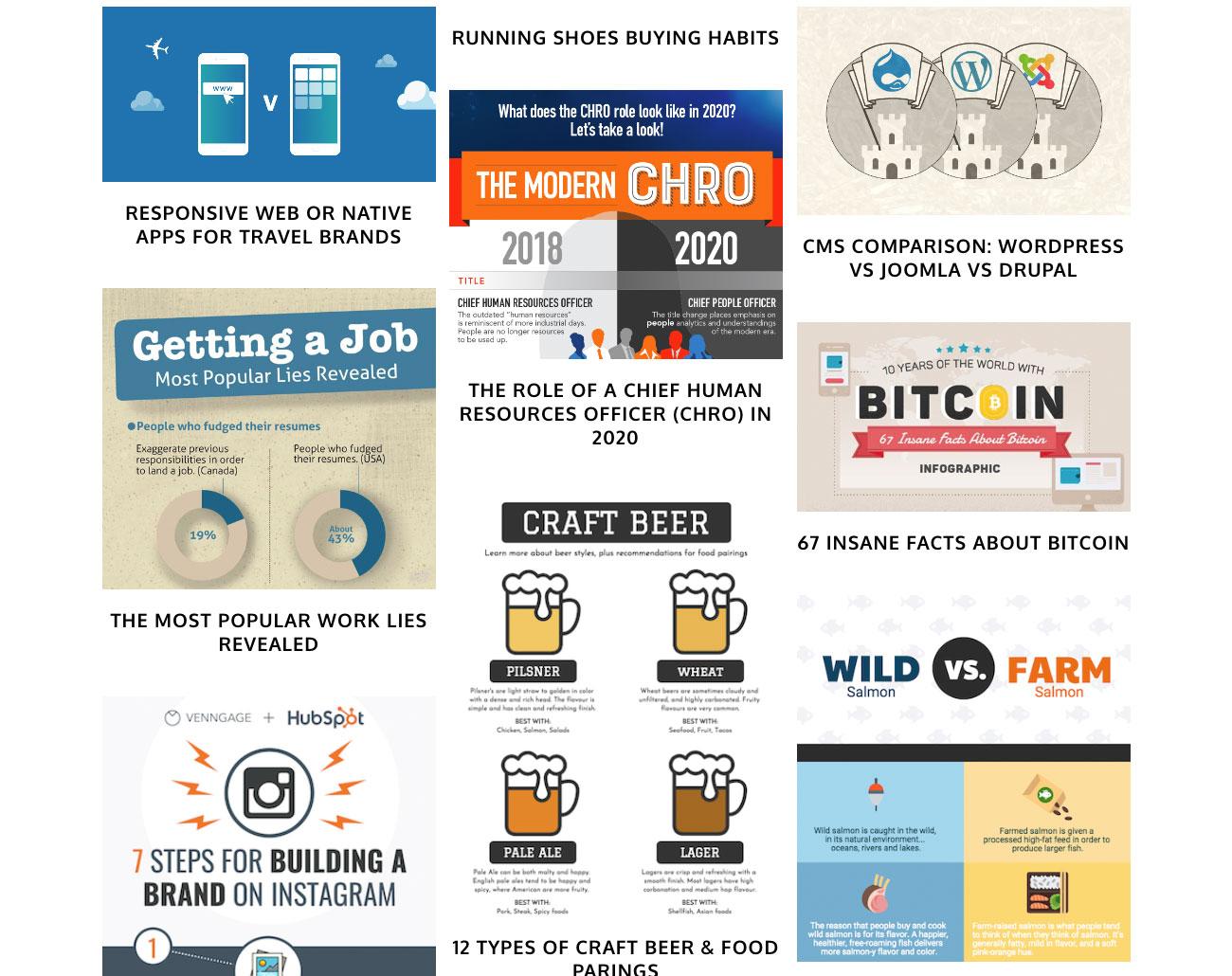 Infographics tools: Venngage