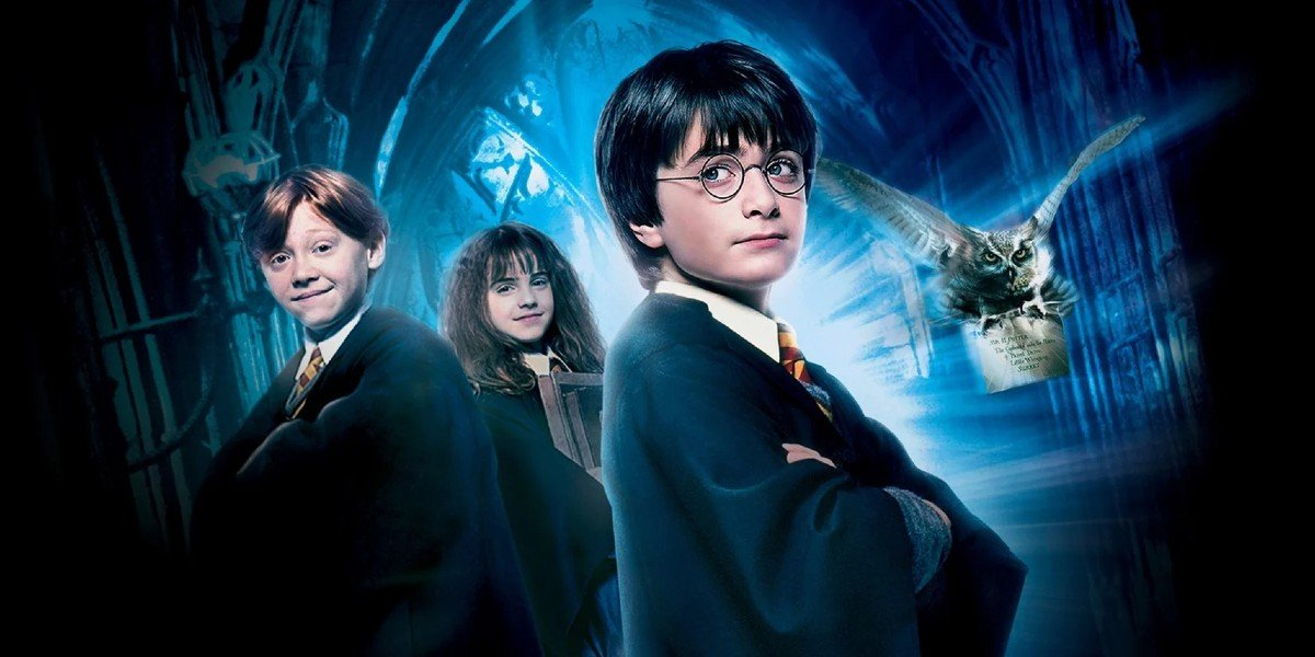Rupert Grint, Emma Watson, and Daniel Radcliffe in Harry Potter and the Sorcerer's Stone