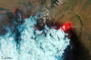 Nabro volcano eruption.