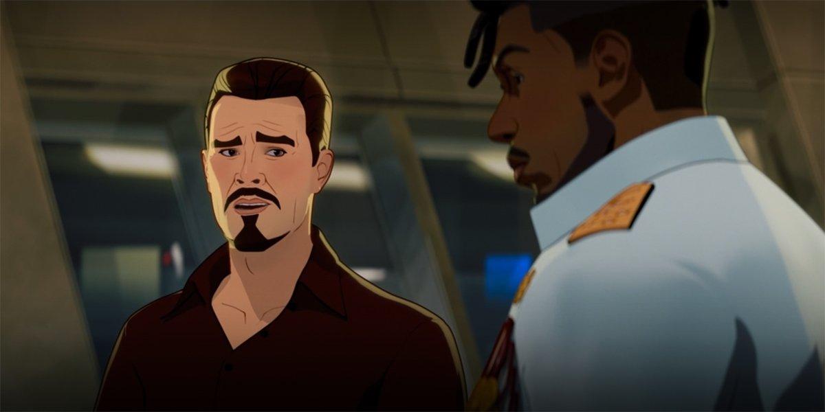 Erik Killmonger with Tony Stark in What If