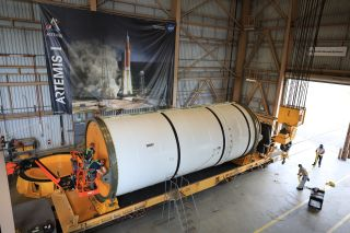 """NASA's Space Launch System rocket, or SLS, is just one piece of the agency's """"moon to Mars"""" initiative."""