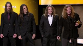 Megadeth with the Grammy