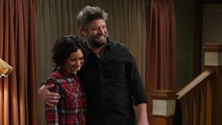 ben and darlene hugging on the conners season 3