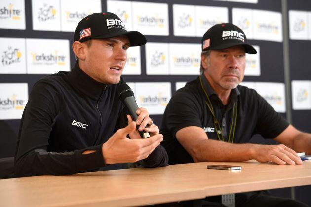Tejay Van Garderen and Jim Ochowicz before the 2014 Tour de France