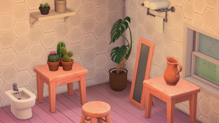 Animal Crossing: Customise wooden furniture by painting it pink