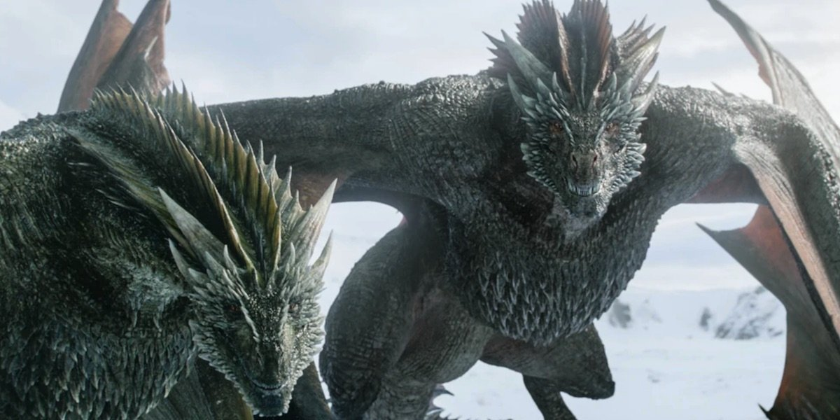Two of Dany's dragons