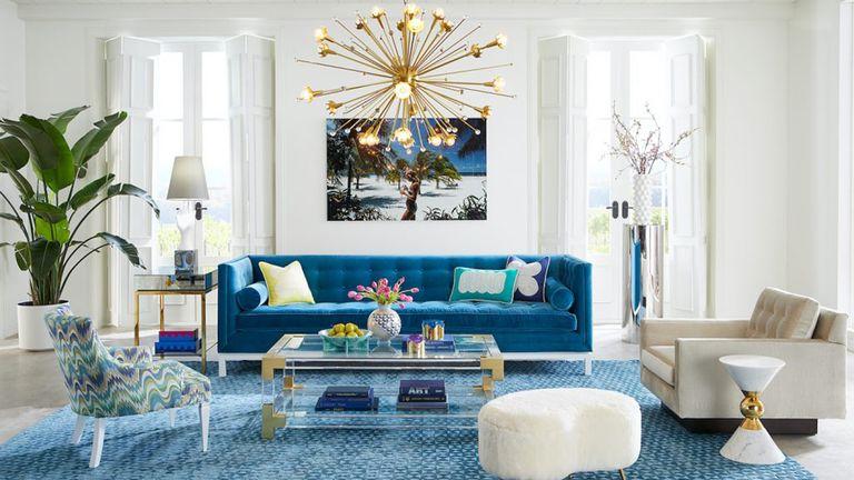 Living room decor by Jonathan Adler