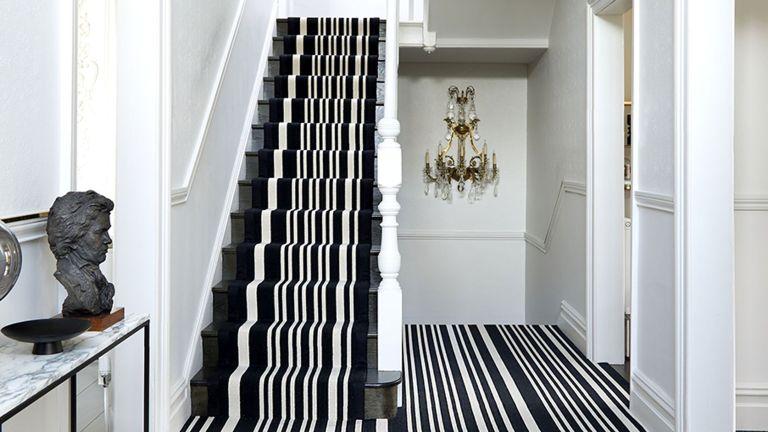 staircase carpet ideas striped carpet