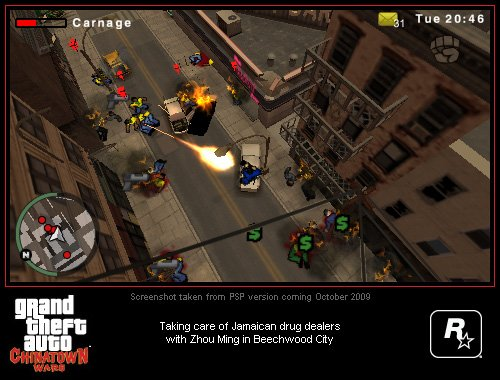 Grand Theft Auto: Chinatown Wars PSP Screenshots #8998