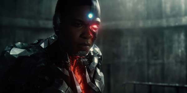 cyborg looking intense in full costume in justice league