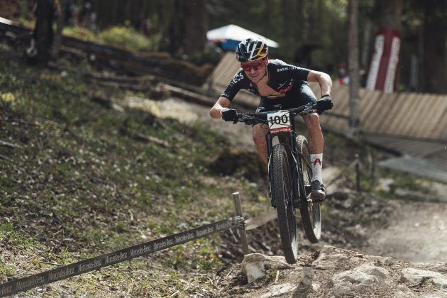 Tom Pidcock at the Nove Mesto World Cup in mountain biking