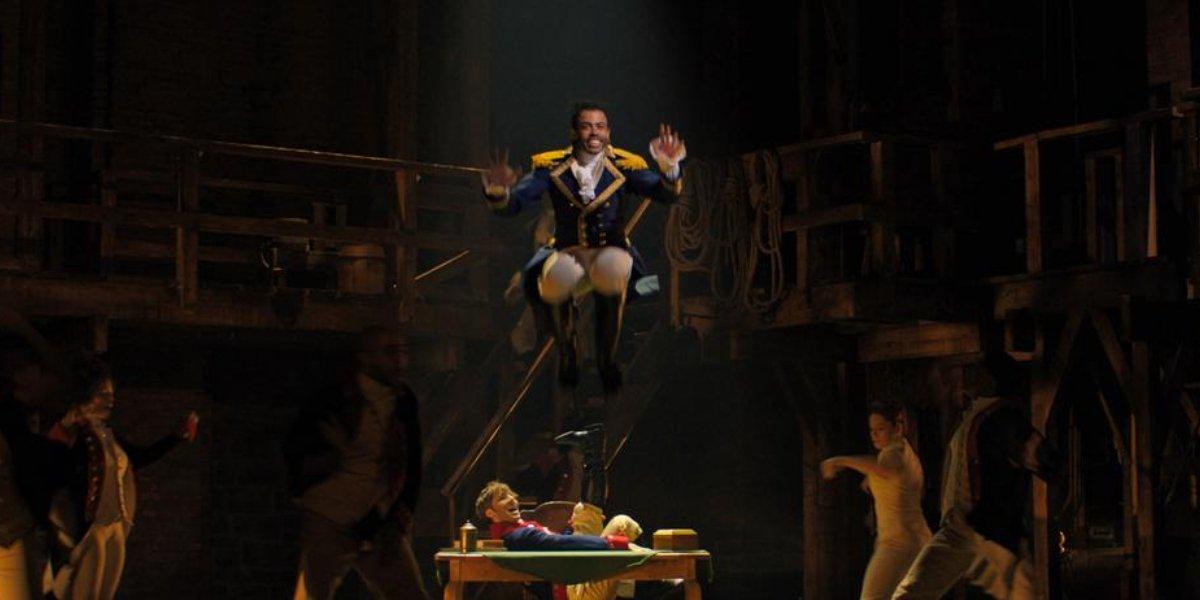 Daveed Diggs takes a big leap performing Hamilton