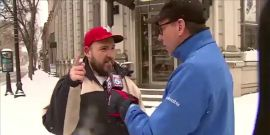 Watch This Wild Dude's Priceless Reaction To Snow On The Local News