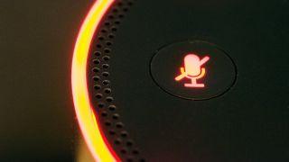 Alexa button on the Amazon Echo