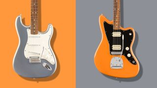 Fender Player Series Silver and Capri Orange finishes