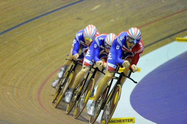 Great Britain team pursuit qualifying session Manchester track World Cup 2011[2].jpg