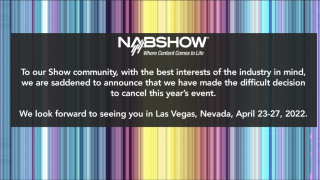 The 2021 NAB Show that was scheduled to be held Oct. 9-13, 2021, in Las Vegas, has been canceled.