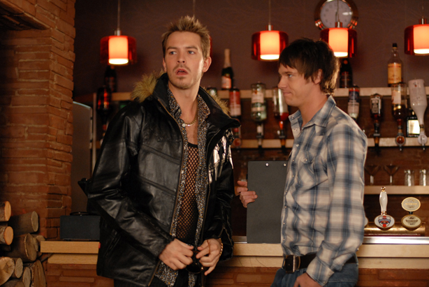 Darren clashes with Rhys
