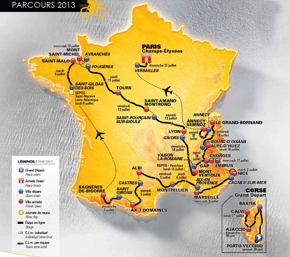 Tour De France 2013 Route Announced In Paris