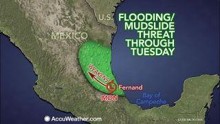 Fernand, flooding, Mexico