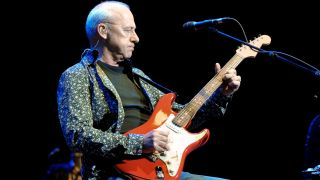 Mark Knopfler performs at The Royal Albert Hall on May 30, 2010 in London, England.