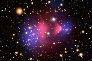Bullet Cluster, universe, dark matter, space, Kavli