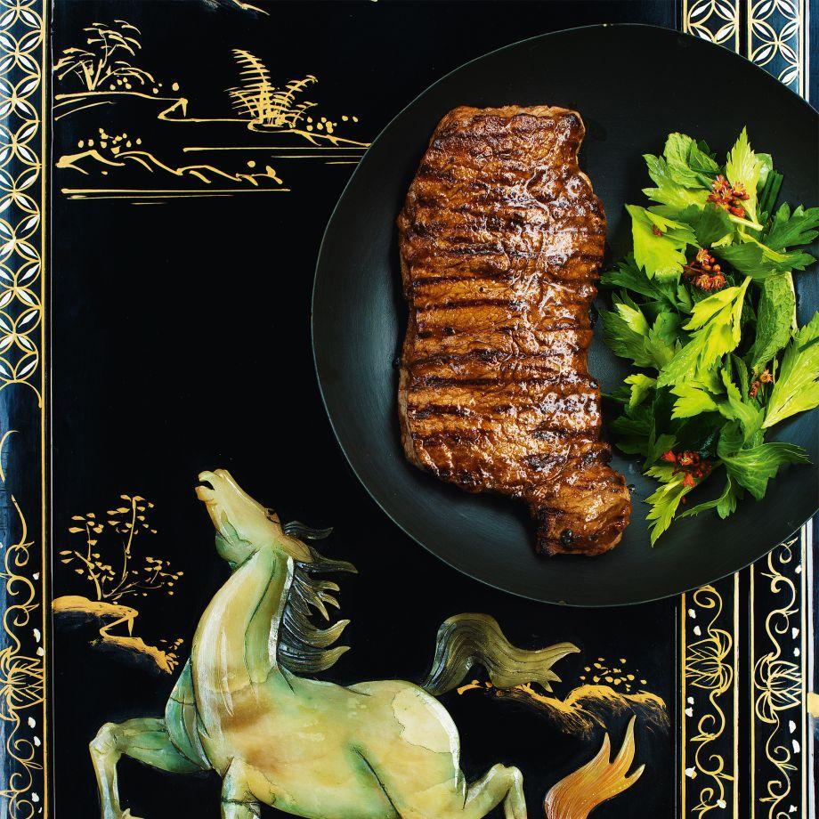Five-Spice Steak and Herb Salad Recipe