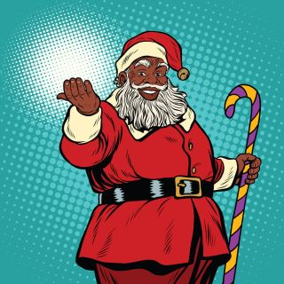 Dark skinned santa