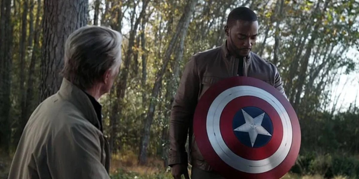 Chris Evans and Anthony Mackie in Avengers: Endgame