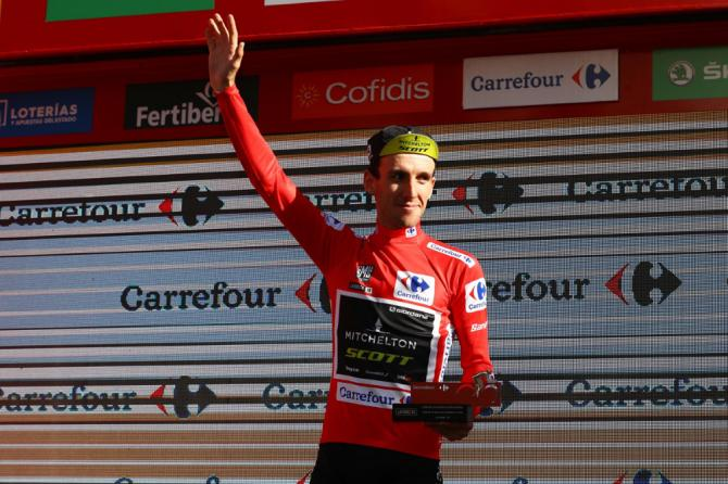 Simon Yates (Mitchelton-Scott) collects another red leader's jersey