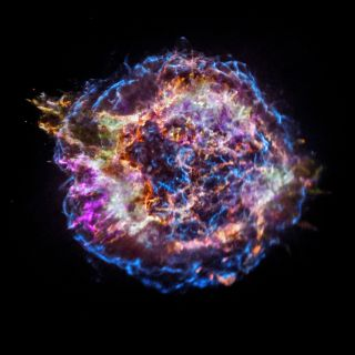 The supernova remnant Cassiopeia A shines in this stunning image from NASA's Chandra X-Ray Observatory. Thousands of astronomers,astrophysicist and space policy officials will meet this week in Washington, D.C. this week at the 231st meeting of the Americ