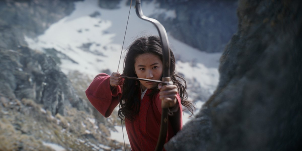 Mulan with her bow and arrow